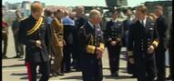 Prins Charles en prins Harry bij herdenking Gallipoli
