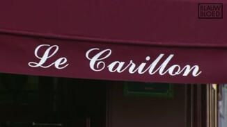 Koningspaar bezoekt café Le Carillon