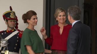 Koningin vertrekt na lunch met president Argentinië