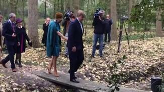 Koningin Máxima verliest schoen
