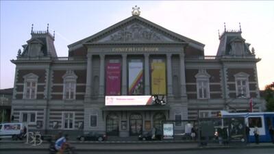 Prinses Beatrix bij jeugdorkest in Amsterdam