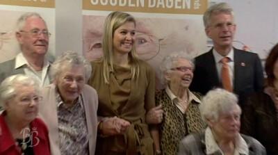 Prinses Máxima bezoekt woonzorgcentrum Westerheem