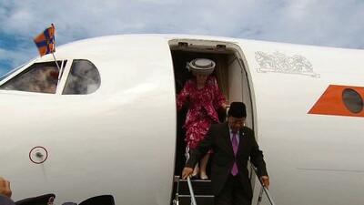 Aankomst Oranjes in Brunei