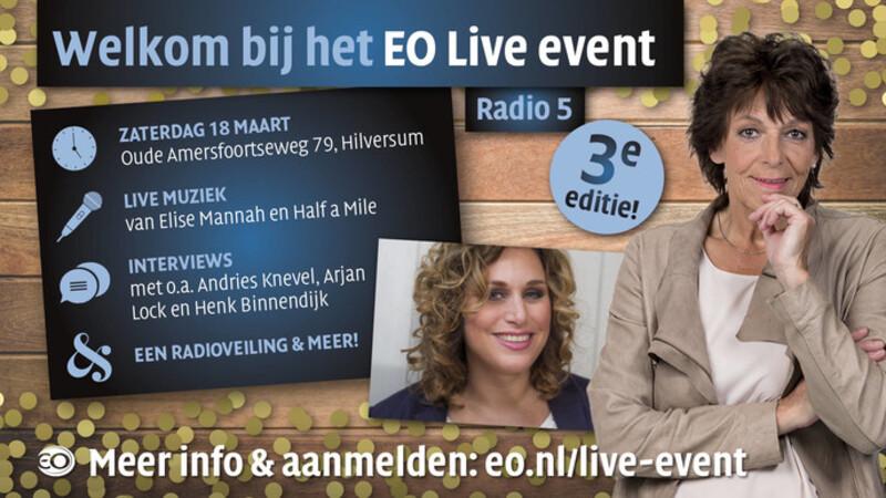 Afbeelding van aflevering: EO Live vanuit de EO-Kapel, met Henk Binnendijk, Elise Mannah en veel meer!