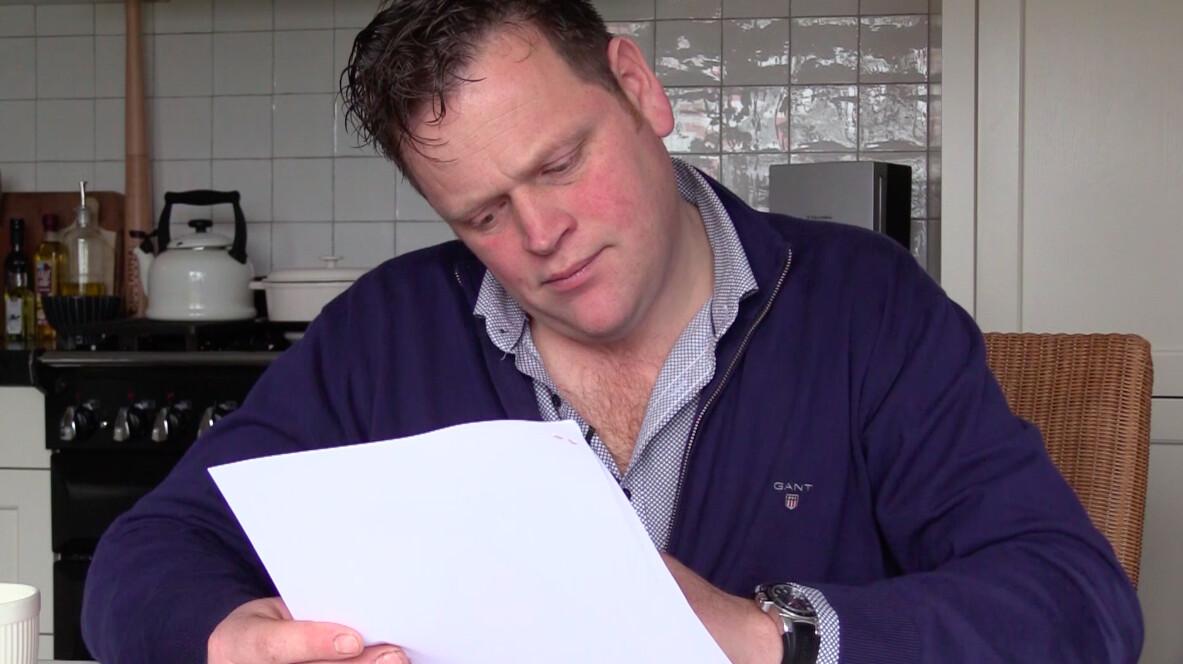 Boer Driek ontvangt zijn brieven