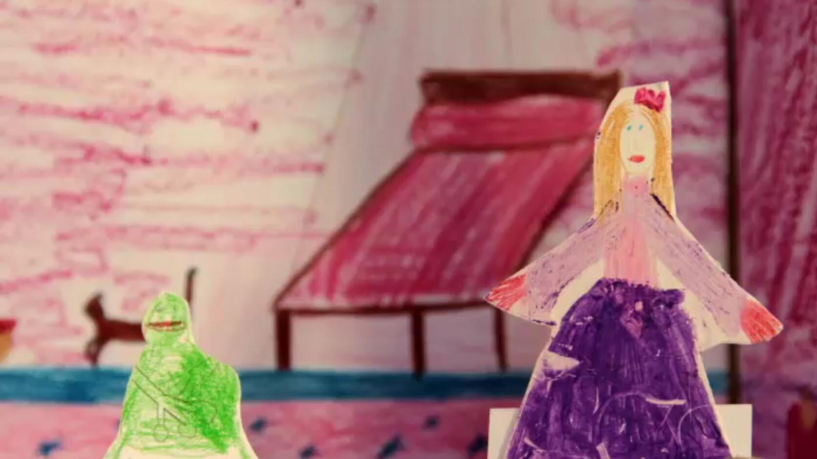 Schooltv: de kikkerprins een sprookje verteld in kindertekeningen