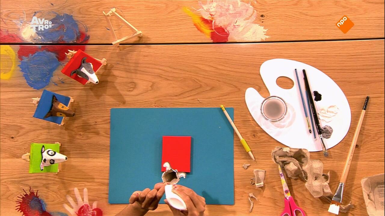 Zin In Zappelin - Kleur: Knutsel: Hondenschilderij