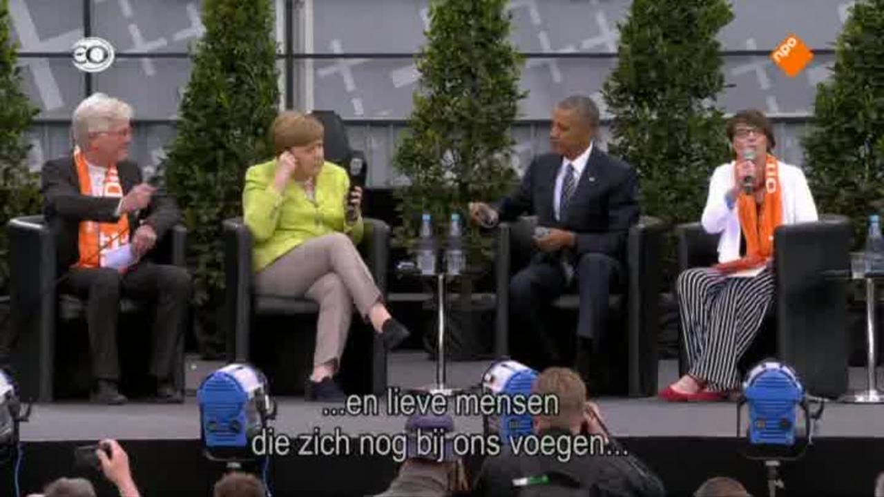 Kirchentag Berlijn Met Obama En Merkel - Kirchentag Berlijn Met Obama En Merkel