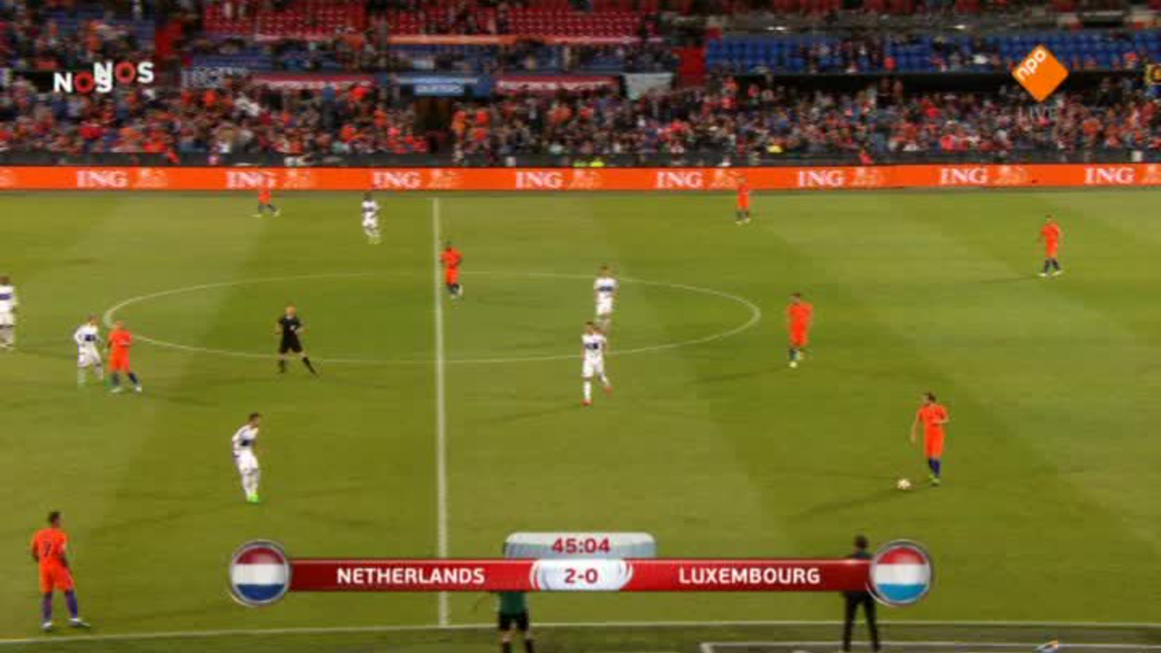Nos Wk-kwalificatie Voetbal - Nos Wk-kwalificatie Voetbal Nederland - Luxemburg 2de Helft