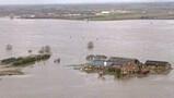 Overstroming van de rivier