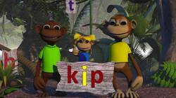 Letterjungle: De letter p: kip