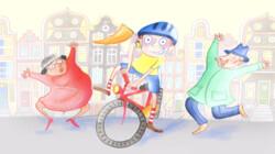 Fietsen, fietsen, fietsen: Voorleesverhaaltje uit Sesamstraat