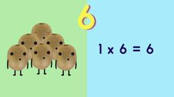 Fruit op Tafel: De tafel van zes