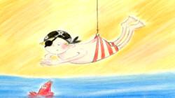 Aadje Piraatje krijgt zwemles: Voorleesverhaaltje uit Sesamstraat