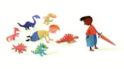 Spelen met dino's: Voorleesverhaaltje uit Sesamstraat