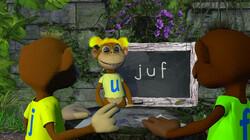 Letterjungle: De letter f: juf