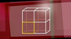 Vergroten van een vierkant en een kubus: Een ontwerp op de computer is vaak een verkleining van de werkelijkheid