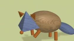 Blokken worden dieren: Een wasbeer van blokken