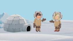 Winter en iglo: Met Wolfram