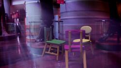 Dansende stoelen in het museum: Stoelen dansen