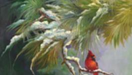 Schilderen Met Gary Jenkins - Winter Kardinaaltje - Schilderen Met Gary Jenkins