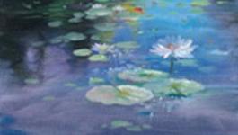 Schilderen Met Gary Jenkins - Lelie Vijver - Schilderen Met Gary Jenkins
