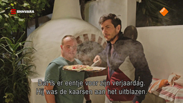 """Je pizza staat in brand!"""
