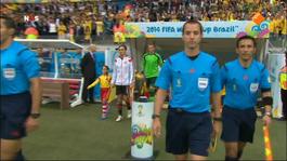 FIFA Wereldkampioenschap Voetbal 1ste helft Brazilië - Duitsland