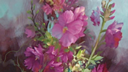 Schilderen Met Gary Jenkins - Fuchsia Stokrozen