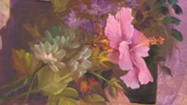 Schilderen Met Gary Jenkins - Hibiscus In Een Passe-partout