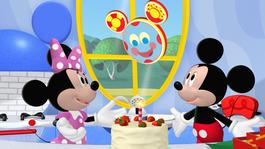 Mickey Mouse clubhuis Donald broedt een ei uit