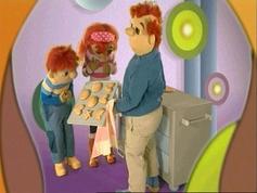 Toto en Sassa bakken koekjes