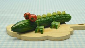 Een krokodil van komkommer