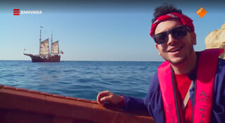Sahil hangt de piraat uit in Portugal