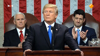 Trump in State of the Union: 'Samenwerken'