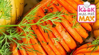 Kook mee met MAX Hasselback winterpeen met rucola-makreelstamp