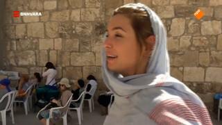 Evi bezoekt de Westmuur in Jeruzalem