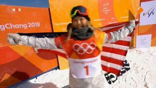 17-jarige Kim wint goud op snowboard halfpipe