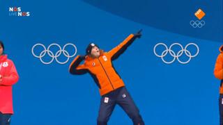 Huldiging Wüst en Leenstra met Bolt-imitatie
