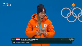 Huldiging shorttracker Yara van Kerkhof