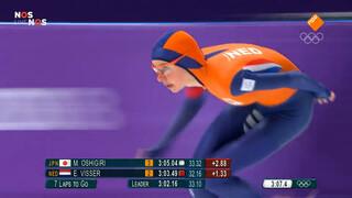 Esmee Visser stunt met goud op 5 km