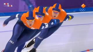 Oranje-vrouwen schaatsen olympisch record
