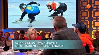Sjinkie Knegt en coach Jeroen Otter over het zilver op de shorttrack