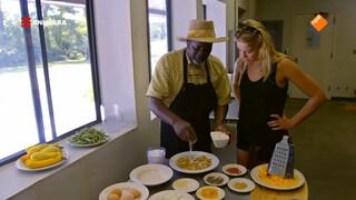 Geraldine kookt een gerecht uit de Gullah Cultuur