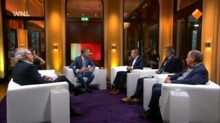 Sybrand Buma, ondernemer Atilay Uslu, Maurice de Hond, campagnestrateeg Jan Driessen