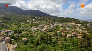 Chris scheurt rond op Corsica in zijn Deux Chevaux.