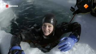 Nienke gaat ijsduiken in Val Thorens