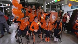 Paralympische atleten weer in Nederland