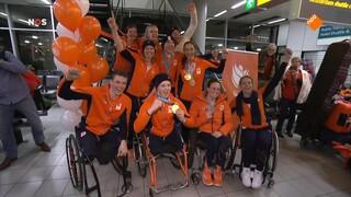 Paralympische sporters terug in Nederland