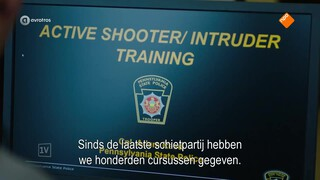 School shootings als business model; kogelwerende rugtassen en baseballcaps